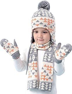 Pesaat Strickm/ütze Baby Jungen Schal und M/ütze Set Winter BabyM/ütze Warme kinderm/ütze Jungen MEHRWEG