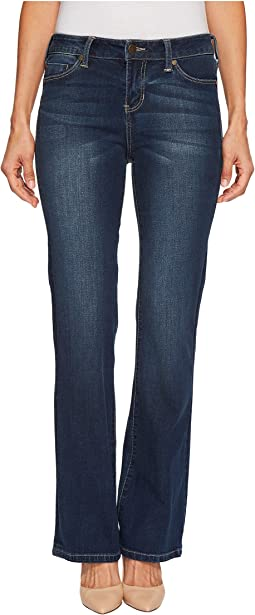Petite Lucy Bootcut with Shaping and Slimming Four-Way Stretch Denim in Lynx Wash