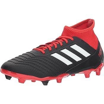 adidas PREDATOR 18.3 FG Soccer Shoe (unisex-adult) black/white/red 11 M US