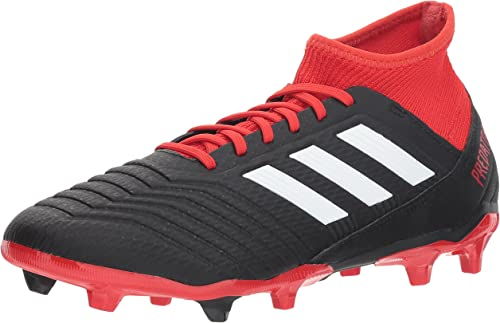Adidas Men's Projoañor 18.3 Firm Ground Soccer zapatos, negro blanco rojo, 10 M US