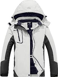 Wantdo Dames Ski Jassen Regenjassen Fleece Waterdicht