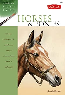 Horses & Ponies: Discover techniques for painting an array of horse and pony breeds in watercolor (Watercolor Made Easy)