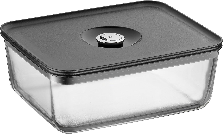 WMF Depot Fresh Vorratsdose 26 x 21 cm rechteckig, Glas, Vorratsglas, luftdichter Aroma-Deckel, Frische-Ventil, Frischhaltedose zum Vorbereiten, Aufbewahren und Servieren B00BWP8VIU
