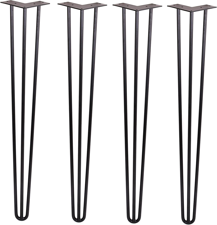 Hairpin Legs 全品最安値に挑戦 Matte Black 激安卸販売新品 DIY Industrial M Century Mid Strength