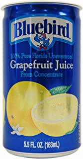 Bluebird Unsweetened Grapefruit Juice, 5.5-Ounce Cans (Pack of 48)
