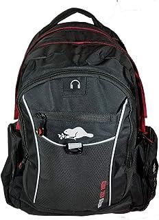 Roots 73 - 耐用 17.3 英寸笔记本电脑和平板电脑背包,带拉链线袋(黑色/红色)