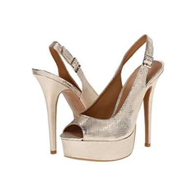 Chinese Laundry Abba (Light Gold Snake) High Heels