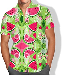 Camisa Praia Melancia Tumblr Verão Summer Florais Folhas Masculino