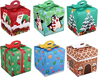 5//15Pcs Christmas Tree Gift Cookie Candy Box Christmas Favor Boxes Party Decor