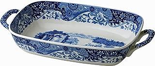 Spode 783931408892 Italian Handled Serving Dish, 11.5 x 8, Blue, White