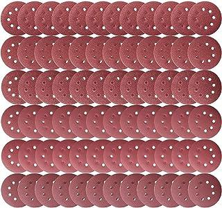 Teenitor サンダーペーパー 125mmφ 72枚 サンディングディスク 電動サンダー用 サンディングパット 木工用 ランダムアクションサンダー用 サンディング 研磨 サンダー用紙やすり #40#60#80#180#240#320