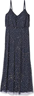 Women's Petite Art Deco Blouson Beaded Gown