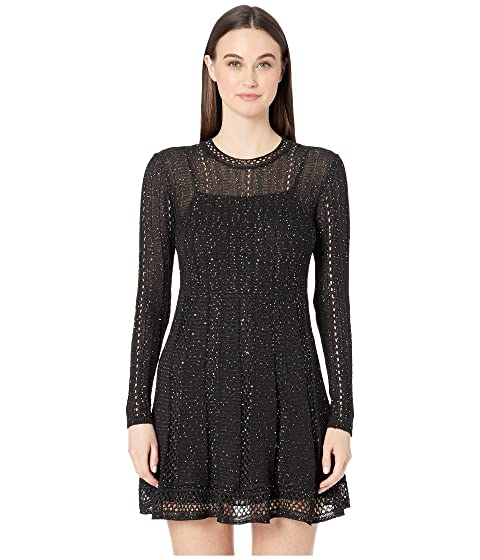 M Missoni Long Sleeve Short Dress with Mini Pailettes