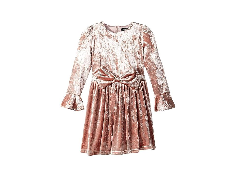 Bardot Junior Velvet Bowie Dress (Big Kids) (Peach Whip) Girl