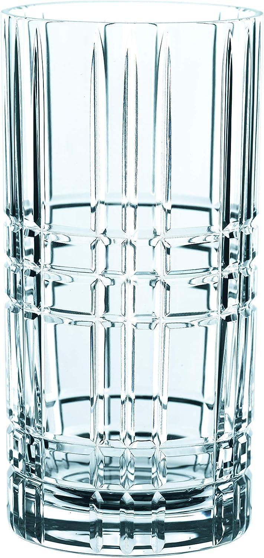Spiegelau & Nachtmann, Juego de 4 Vasos de Cristal Cuadrados, 445 ml, 101049