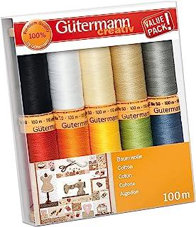 Gütermann Creativ 10 Reels of 100% Cotton