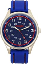 Wrangler Men's Watch, 48mm, Red Second Hand, 24 Hr Military Time, Silicone Strap, Water Resistant