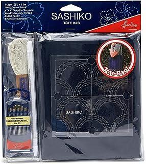 Sew Easy einfach Sashiko DIY-Einkaufstasche Kit - enthält alles, was zum Erstellen Sie Ihre eigene Tragetasche