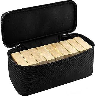 جراب GWCASE متوافق مع لعبة جينغا الكلاسيكية. صندوق تخزين مكعبات متراصة يحمل أكثر من 54 قطعة خشبية لبرج الأخشاب (حقيبة فقط)