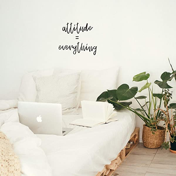 Vinyl Wall Art Decal Attitude Everything 17 X 21 Trendy Inspirational Quote For Home Bedroom Living Room Work Office School Classroom Decoration Sticker