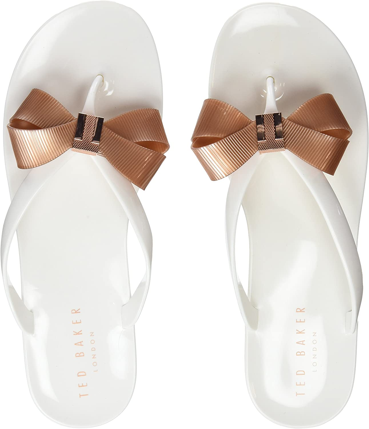 Ted Baker Suszie - White pink gold PVC (Man-Made) Womens Sandals