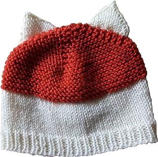 Cappellino volpe da bambino in lana merino, cappellino taglia 4-8 anni, cappello fatto a mano