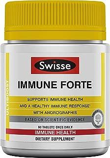 Swisse Ultiboost Immune Forte   Andrographis, Vitamin C, Elderberry & Echinacea for Healthy Immune Response   60 Tablets