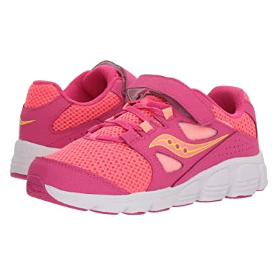 Saucony Kids Kotaro 4 A/C (Little Kid/Big Kid) (Pink/Coral) Girls Shoes