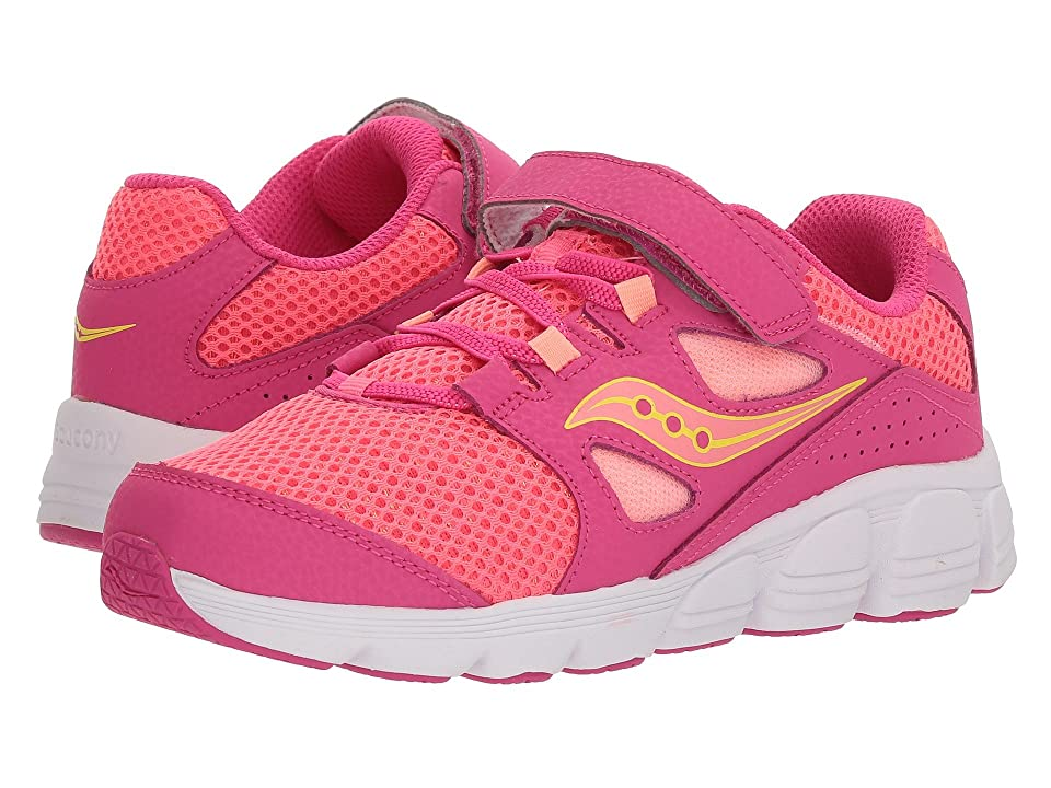 Saucony Kids Kotaro 4 A/C (Little Kid/Big Kid) (Pink/Coral) Girls Shoes