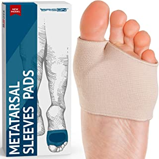 Fabric Metatarsal Pads - Ball of Foot Cushions Support Sleeves Burning Sensations Forefoot Blisters Metatarsalgia Pain Rel...