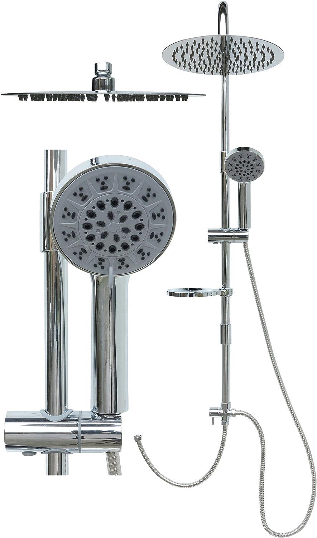 Shower Set Stainless Steel Shower Rail Rain Shower Set Shower Set Hand Shower Shower Head Set Overhead Shower Adjustable Holder