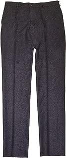 Polo Ralph Lauren Mens Flannel Wool Dress Check Plaid Pants Italy Black Gray 34