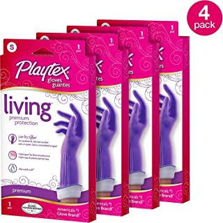 Playtex Living DripCatch Cuff Purple Gloves, Small (Pack of 4)