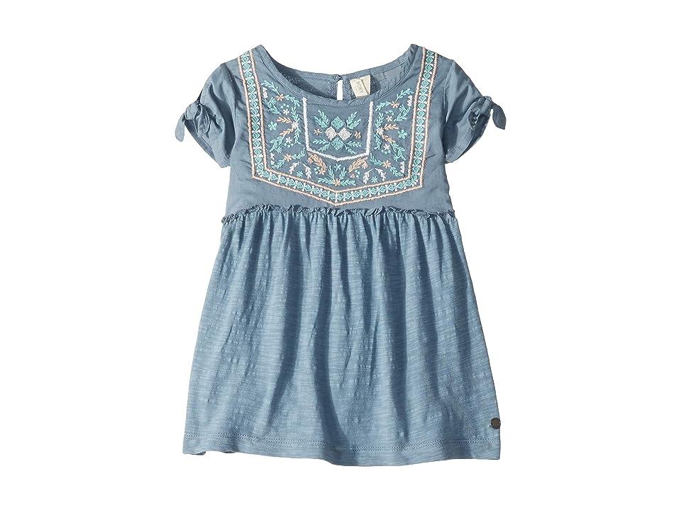 Roxy Kids Ocean Away Dress (Toddler/Little Kids/Big Kids) (Blue Mirage) Girl