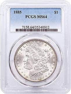 1885 P Morgan Silver Dollar $1 MS64 PCGS