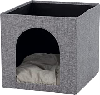 comprar comparacion TRIXIE Cueva Suave Ella para estantería, 33 × 33 × 37 cm, Gris, Gato