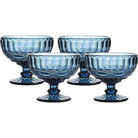 Orange 10 Ounce Dessert Bowls for Sundaes SWEEJAR Ceramic Ice Cream Bowls Set of 2, Milkshakes Parfaits Tulip Sundae Cups
