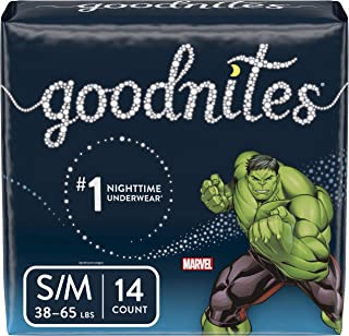 Goodnites, Boys Bedwetting Underwear, S/M, 14 Ct