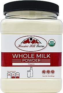 Certified Organic Whole Milk Powder (1lb), Hoosier Hill Farm, Gluten free Hormone free