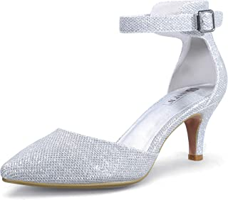 Women's IN3 D'Orsay Low Kitten Heels 3 Inch Wedding Dress...