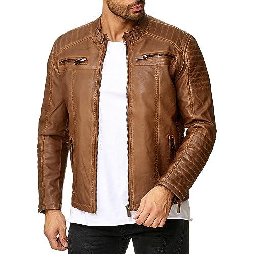 c3ec524ef Mens Brown Leather Jackets: Amazon.co.uk