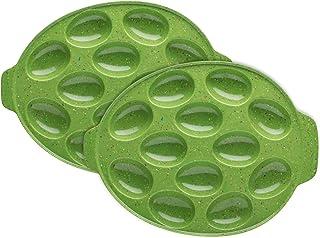 Zak Designs 2-Piece Sprinkles Egg Tray Set, Palm Green