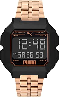 PUMA Women's Quartz Watch with Stainless Steel Strap, Rose Gold, 22 (Model: P5035)