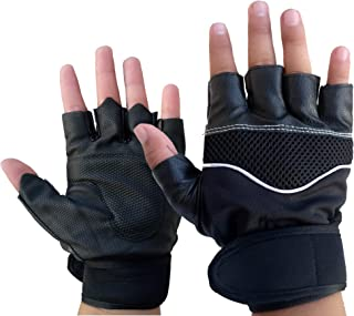 DreamPalace India Gym Gloves/Cycling Gloves/Riding Gloves/Stretchable Size for Both Men and Women, Black Colour