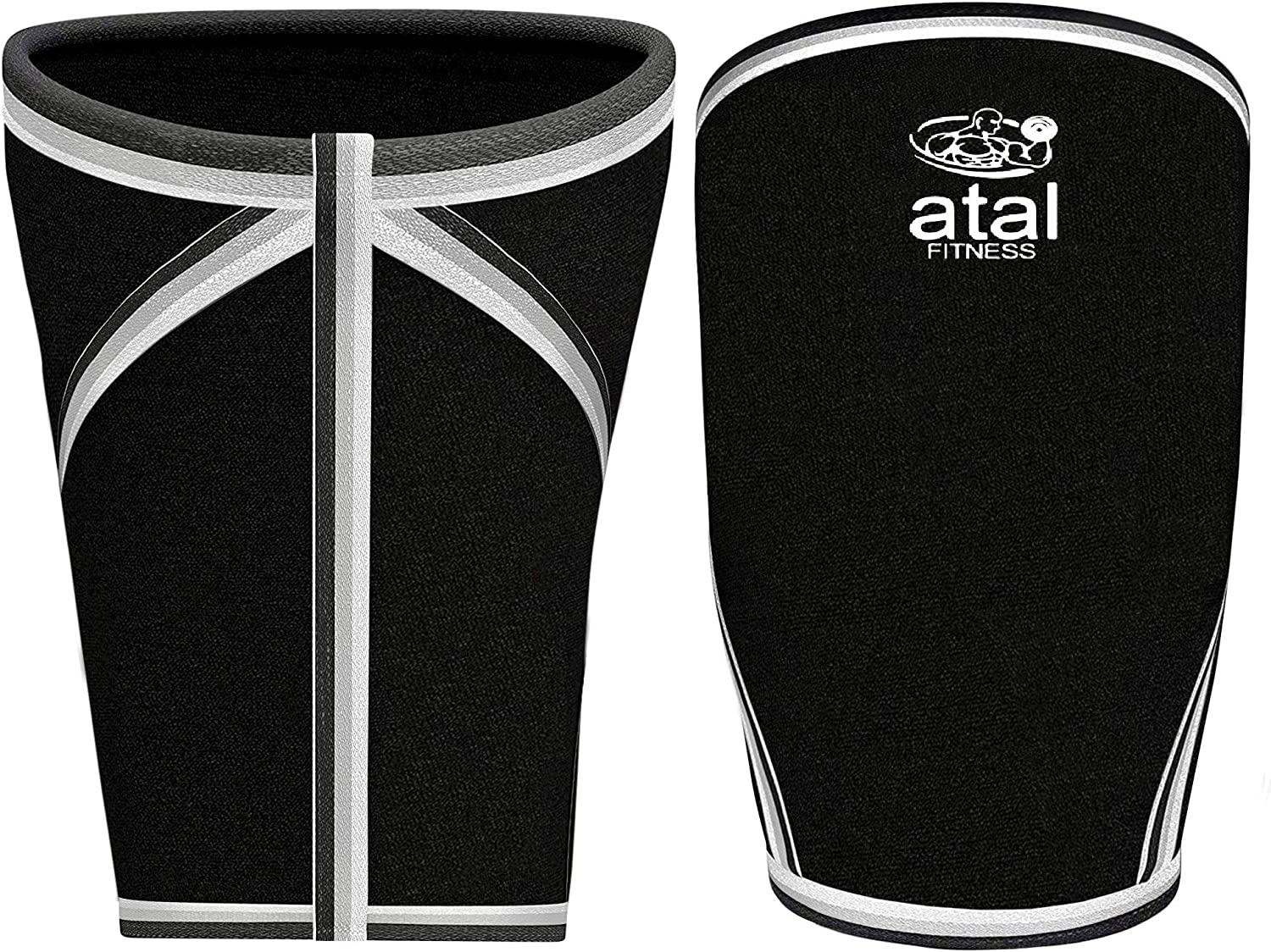 atal Fitness Best Knee Sleeves for Powerlifting 7mm Neoprene Knee Sleeves for Women and Men with a Gym Bag Weightlifting Cross Training Squats and Knee Support