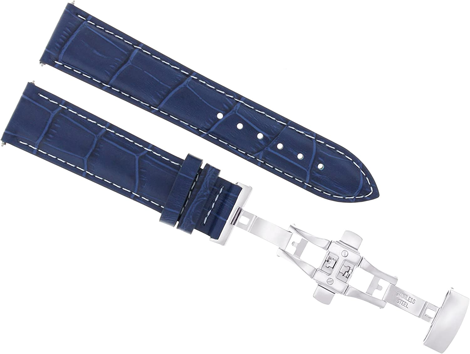 22mm Leather Watch Strap Band Compatible with Seastar OFFicial store Tissot Large-scale sale 100