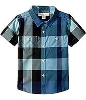 Burberry Kids - Mini Camber Short Sleeve Check Shirt (Infant/Toddler)