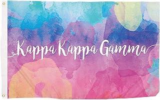 Kappa Kappa Gamma Water Color Sorority Flag Greek Letter Use as a Banner Large 3 x 5 Feet Sign Decor kkg