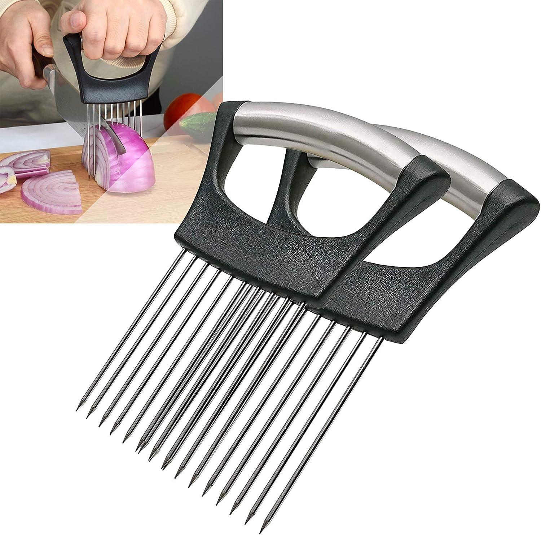 2Pack Onion Slicer Meat Slicer, Food Slice Assistant Onion Holde