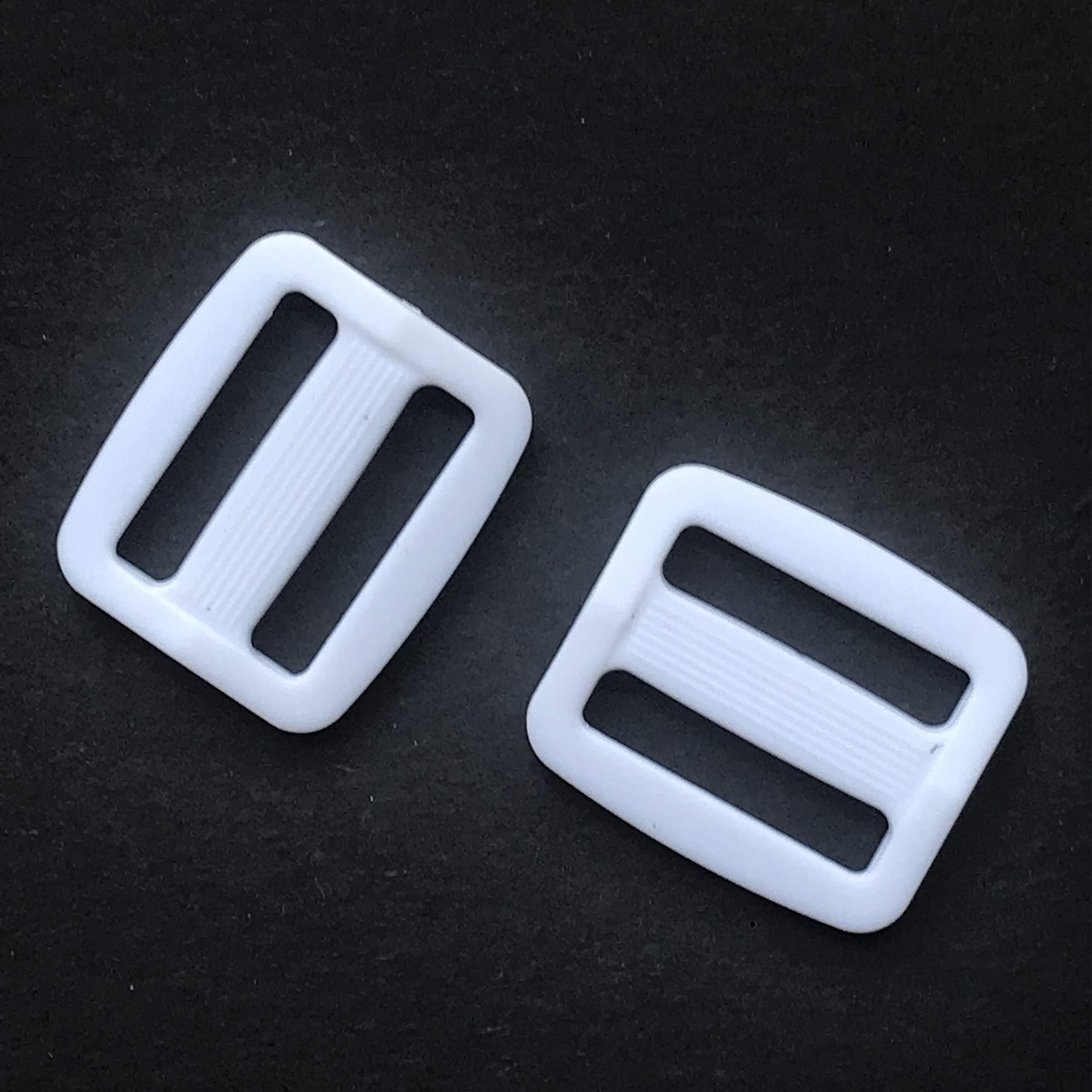 20 Black Slide Buckle 1 inch Metal Triglide Slides Rectangle Adjustable Webbing Slider for Purse Bag Suspenders Making DIY Accessories,Q131